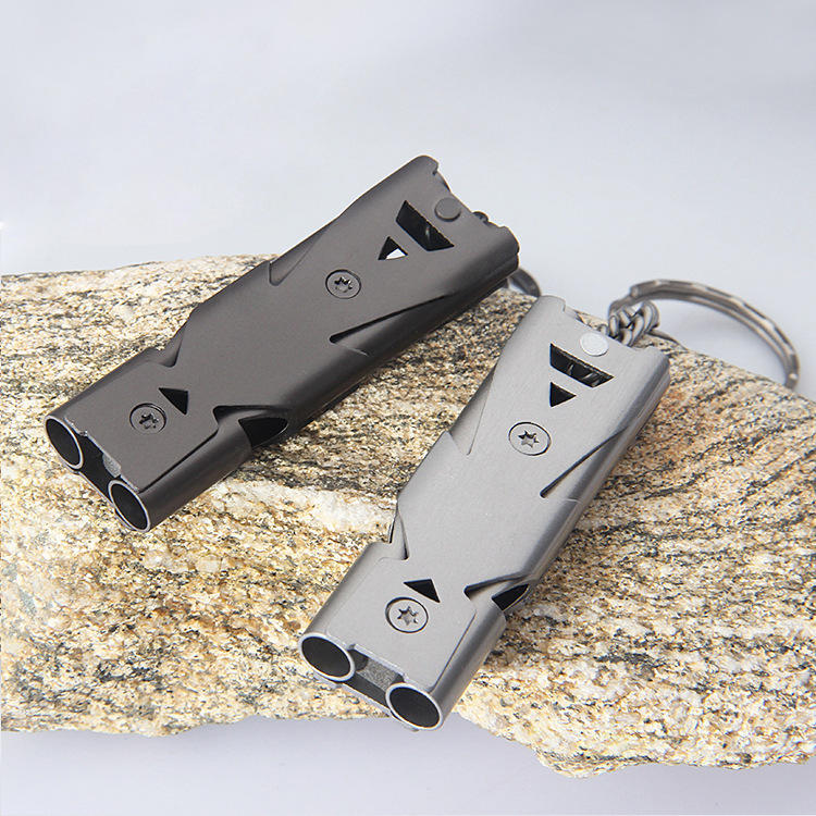 Double Pipe Outdoor Emergency Survival Whistle