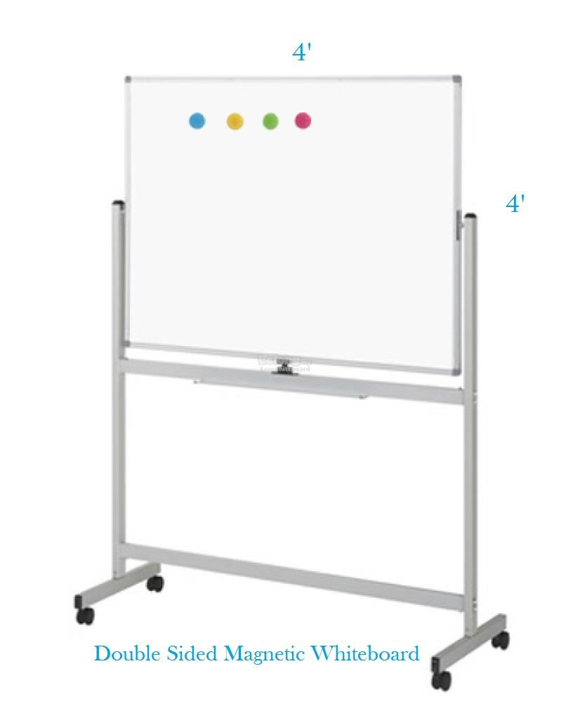 Double Sided Magnetic Whiteboard 3' x 4' -Free Delivery & Installation