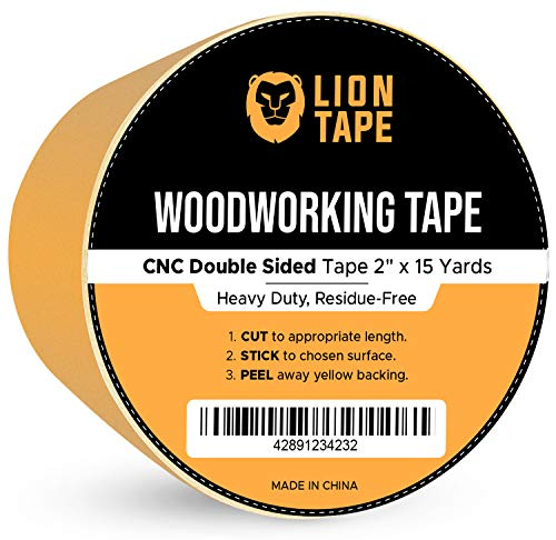 "Double Sided Woodworking Tape w/Yellow Backing 2 "" x 15 yds, for CNC Mach"
