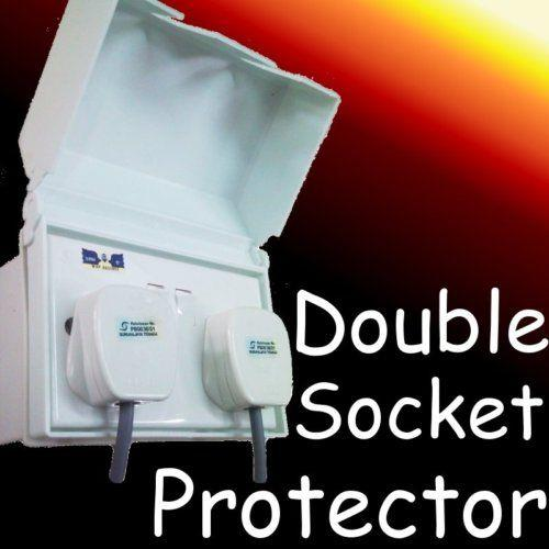 double switch plug socket outdoor cover wet protector diy
