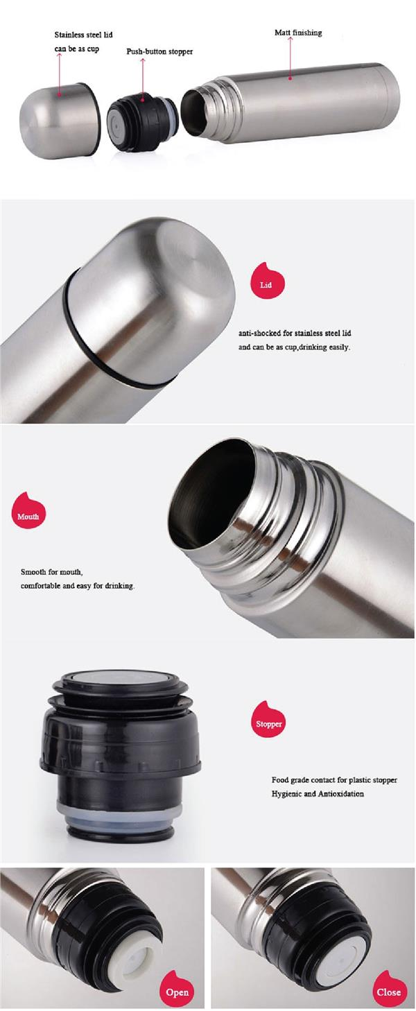 Double Wall Stainless Steel Flask Thermos Bottle Tumbler Hot & Cold