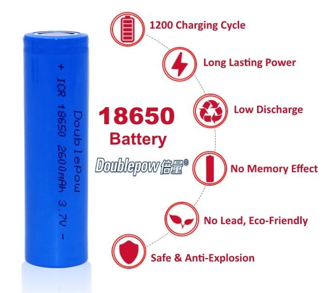 Best 18650 Battery For Vaping 2020 Doublepow 18650 2600mah Vape Batter (end 3/31/2020 12:07 PM)