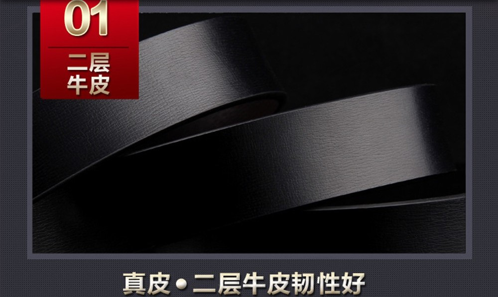 DOULILU Men Genuine Leather Buckle Waist Belt Tali Pinggang Classic Hole 152