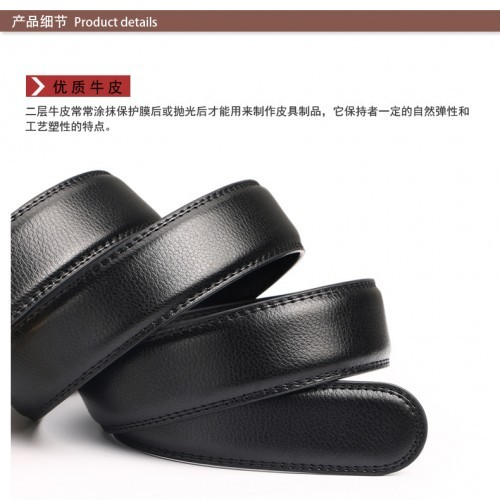 DOULILU Men Leather Automatic Buckle Waist Belt Tali Pinggang 207