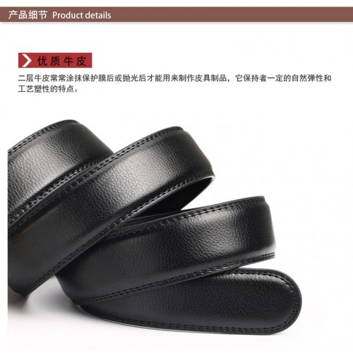 DOULILU Men Leather Automatic Buckle Waist Belt Tali Pinggang 208