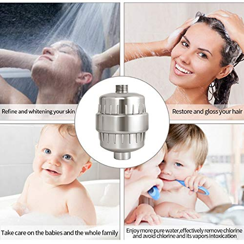 ~ Dowry 15 Stage Shower Filter with 2 Replacement Cartridges, Showerhead Filte