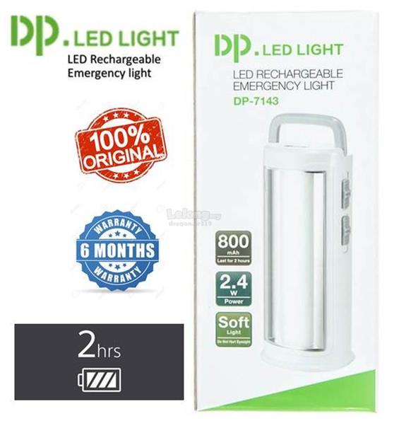 DP LED LIGHT RECHARGEABLE EMERGENCY LIGHT 7143