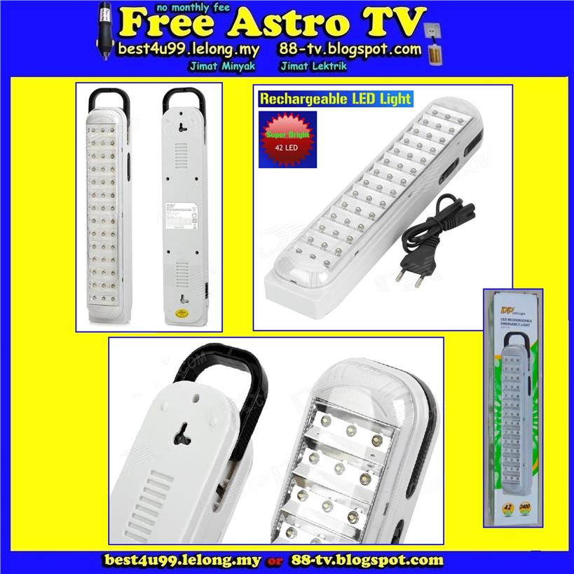 DP LED Rechargeable Emergency Light Super Bright pasar malam camping m