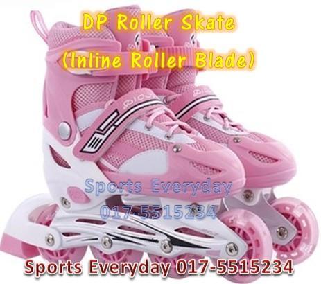 DP Roller Skate (mainan sport Inline Roller Blade) Kasut Roda - Pink 89ac3f9626