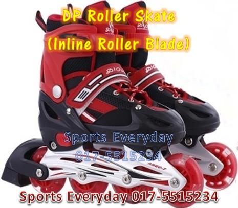 DP Roller Skate (mainan sport Inline Roller Blade) Kasut Roda - Red. ‹ › 0501522f91
