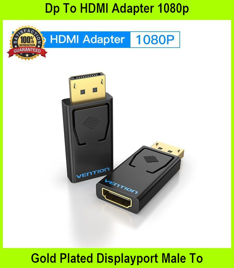 Dp To HDMI Adapter 1080p Gold Plated Displayport Male To H - [MODEL A]