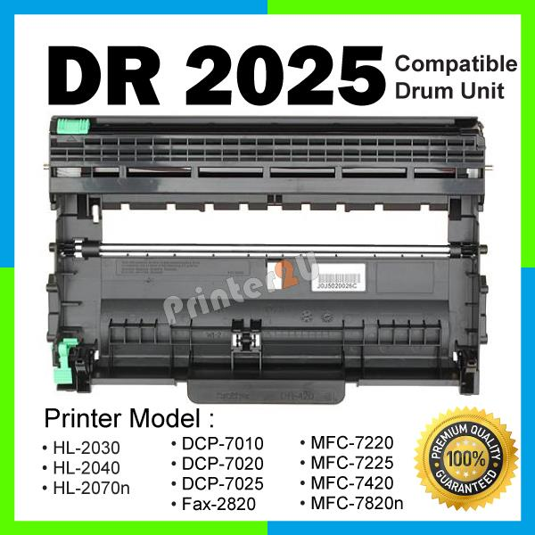 DR 2025 Drum Compatible Brother MFC 7220 7225 7420 7820N DCP-7010 7020