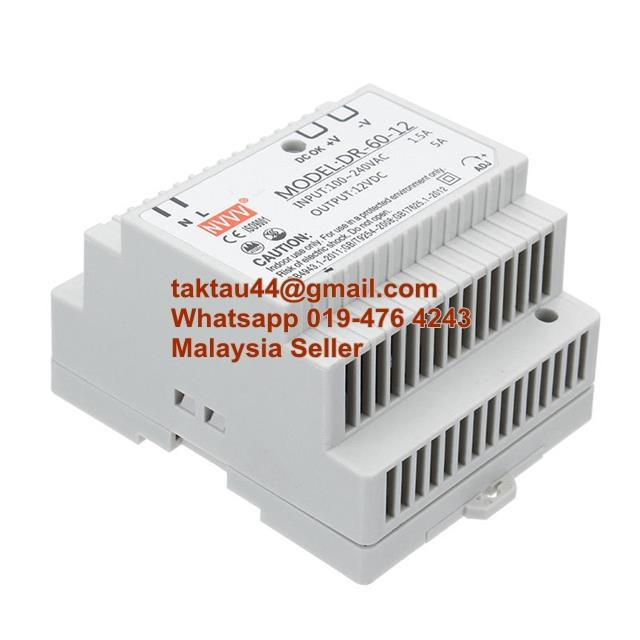 DR-60-12 Industrial DIN Rail Power Supply 54W AC To DC 12V