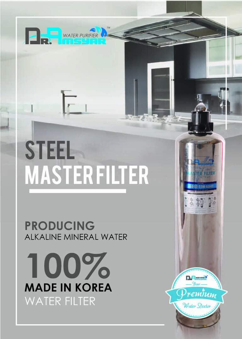 [ DR. AMSYAR WATER STEEL MASTER FILTER ]