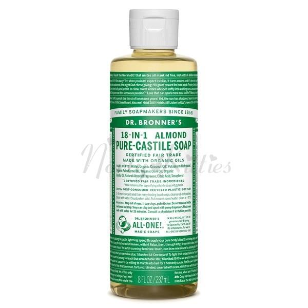 Dr Bronner's Magic Soaps, Almond Pure Castile Soap (237ml)