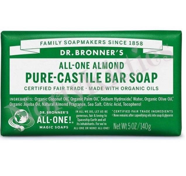 Dr Bronner's Magic Soaps, Almond Pure Castile Soap Bar (140g)