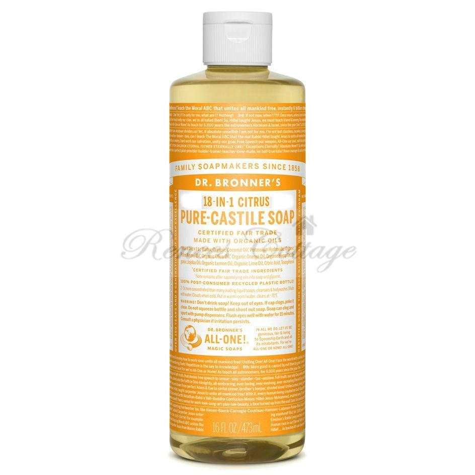 Dr.Bronner's Magic Soaps, Citrus Liquid Castile Soap (237ml, 473ml)