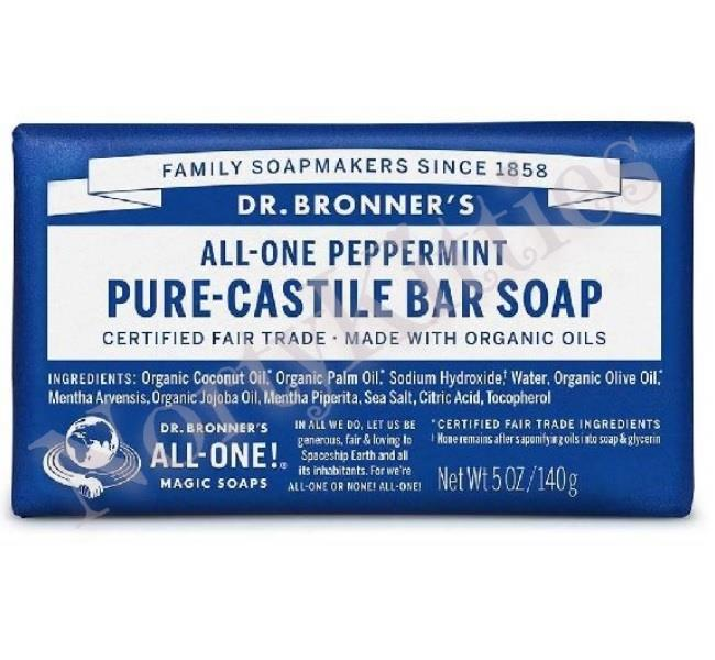 Dr Bronner's, Magic Soaps, Peppermint Pure Castile Soap Bar (140g)