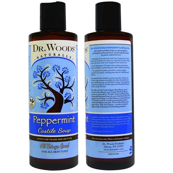 Dr. Woods, 100% Pure Peppermint Castile Soap With Organic Shea Butter