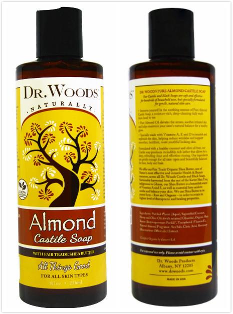 Dr. Woods, Almond Castile Soap, Fair Trade (236 ml)