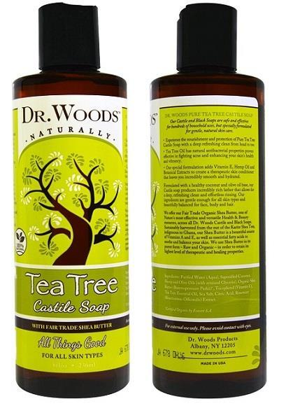Dr. Woods, Tea Tree Castile Soap, Fair Trade (236 ml) Made In USA
