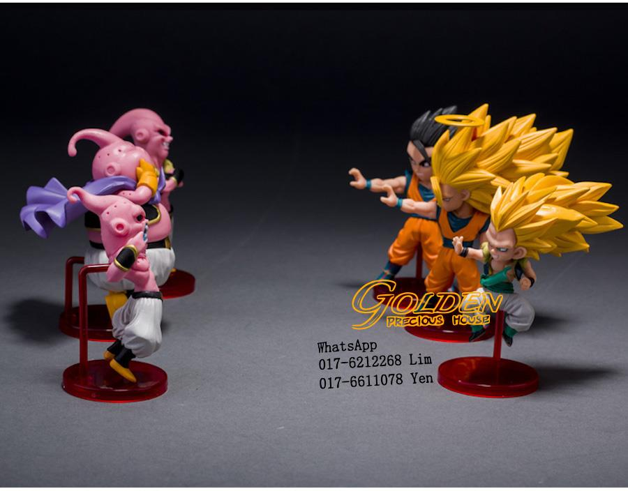 dragon ball z 6in1 action figure son goku gohan goten buu ubu budokai