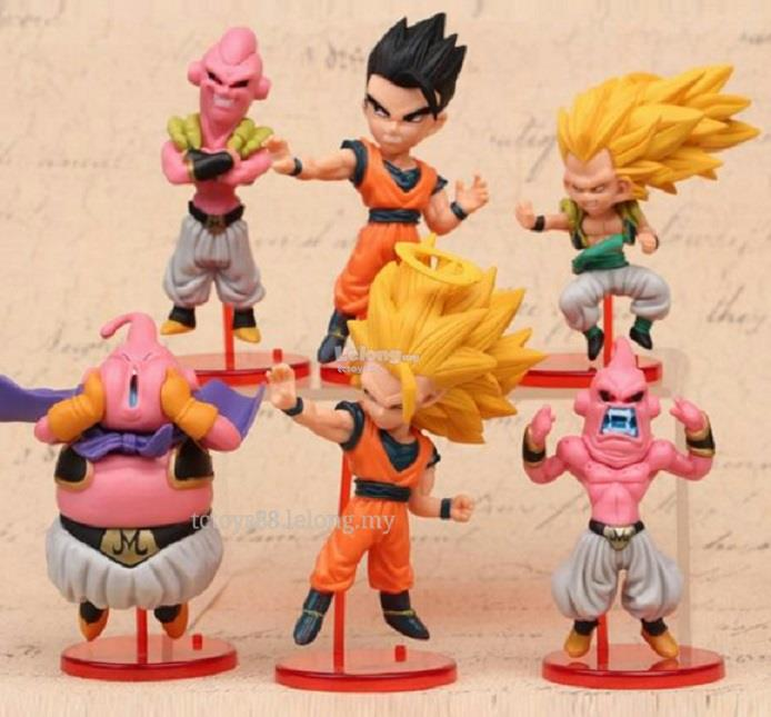 Dragon Ball Z Figure. G3 Dragon ball Toy / Cake Topper 6 pcs set.