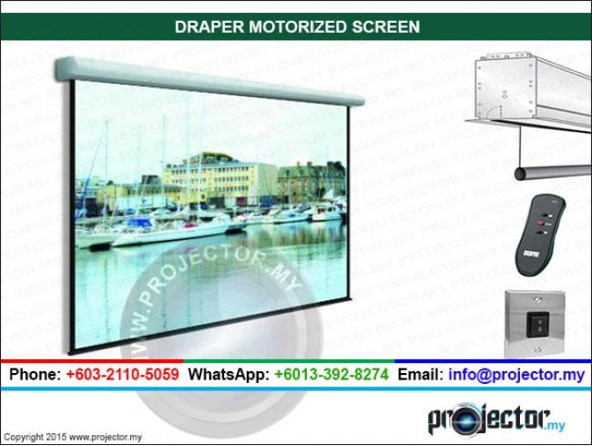 DRAPER ROLLERAMIC MOTORIZED SCREEN 18' x 18'