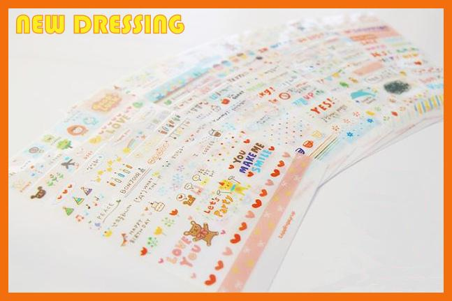 'Drawing Market' Sticker (Pink) - Zakka/Diary/Photobook DIY