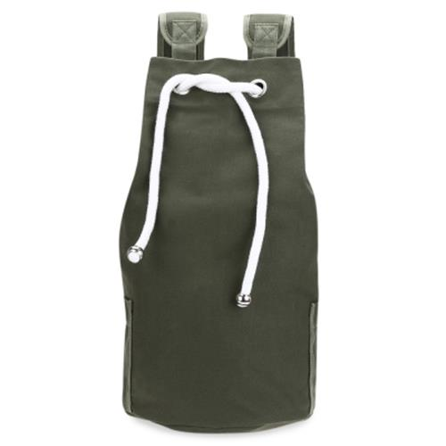 9c169dc22778 DRAWSTRING CANVAS BUCKET GYM BAG PORTABLE BACKPACK FOR MEN (ARMY GREEN)