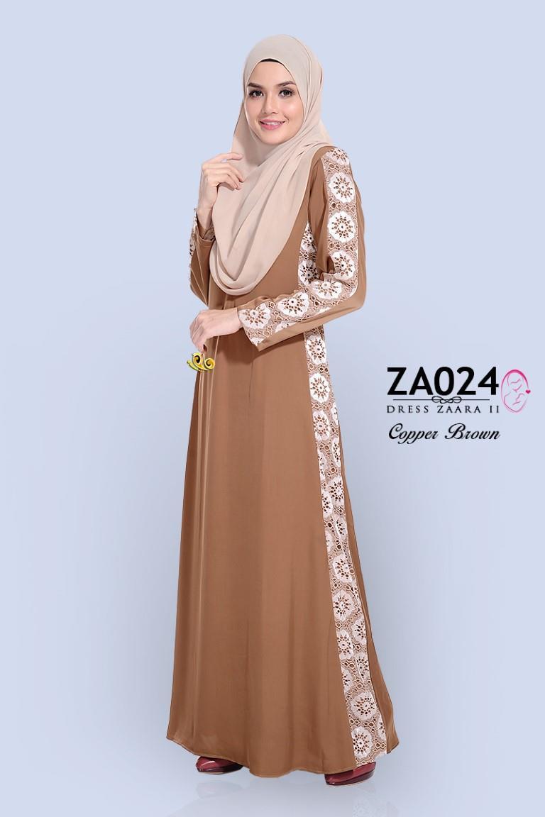Dress Muslimah Moden Zara Satin Cop End 7242016 1130 Am