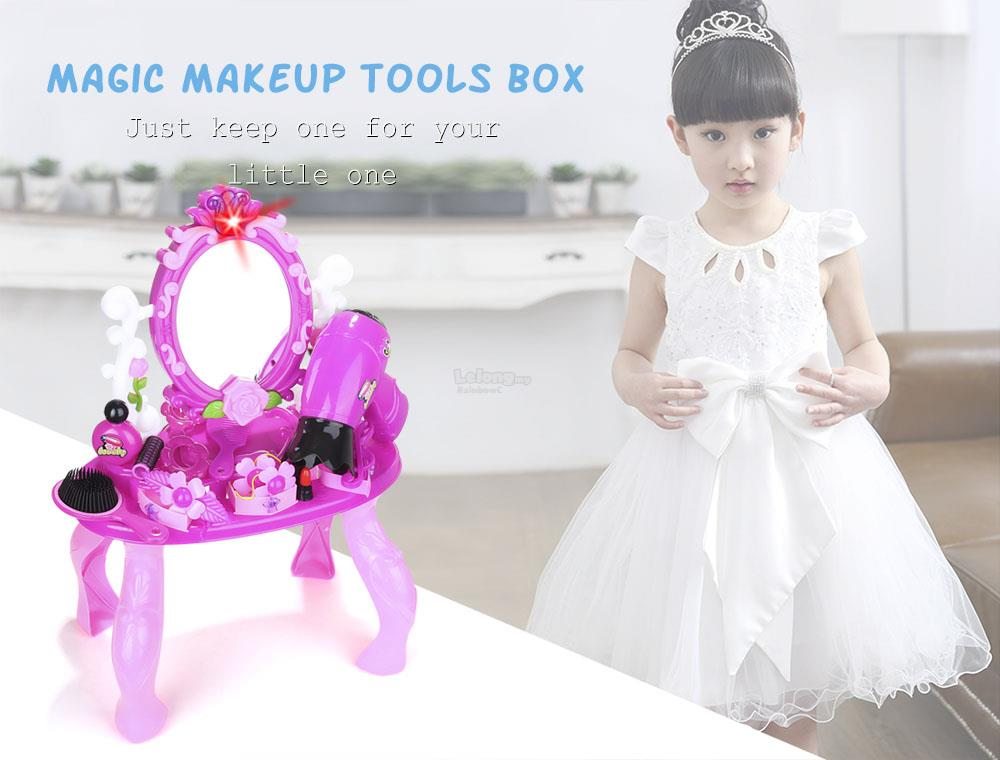 Make Up Dressing Table Simulation Toy For Kids Girls (Baby Blue)