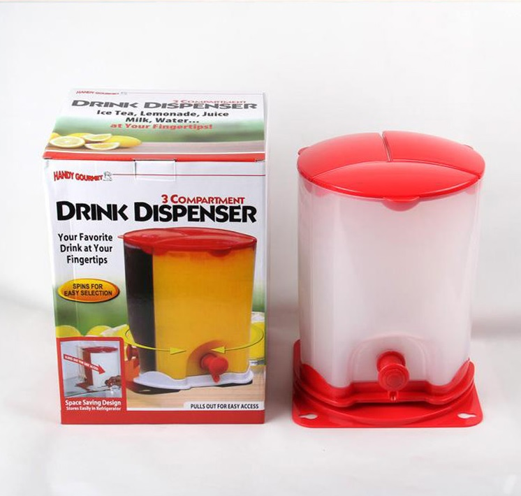 Drinker Kitchen Drink Bucket 3 in 1 Buffet Drink Beverage Dispenser