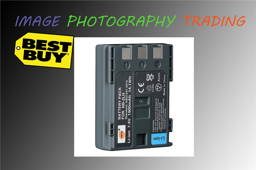 DSTE NB-2LH Replacement 7 4V 1900mAh Battery for Canon EOS 350D 400D