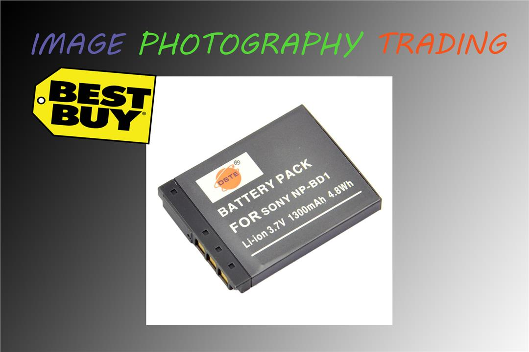 DSTE NP-BD1 NP-FD1 Battery for Sony Camera