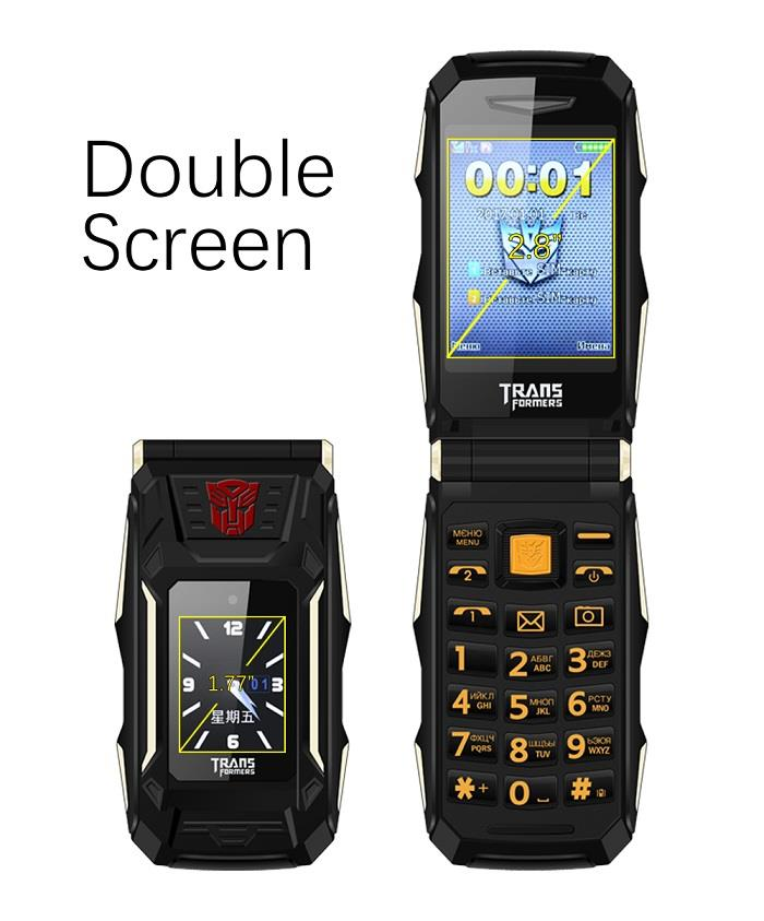 Dual Screen Dual Sim Power Bank Flip Phone (WP-X10).