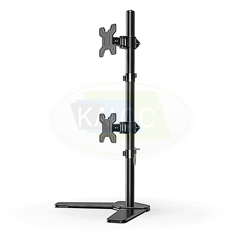 Dual-screen Height Adjustable LCD Monitor Arm 17 to 27 Inch - DW120T-B