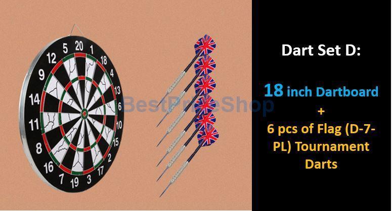 Dual Sides Professional Tournament Dartboard Dart Board Fun Darts Toy
