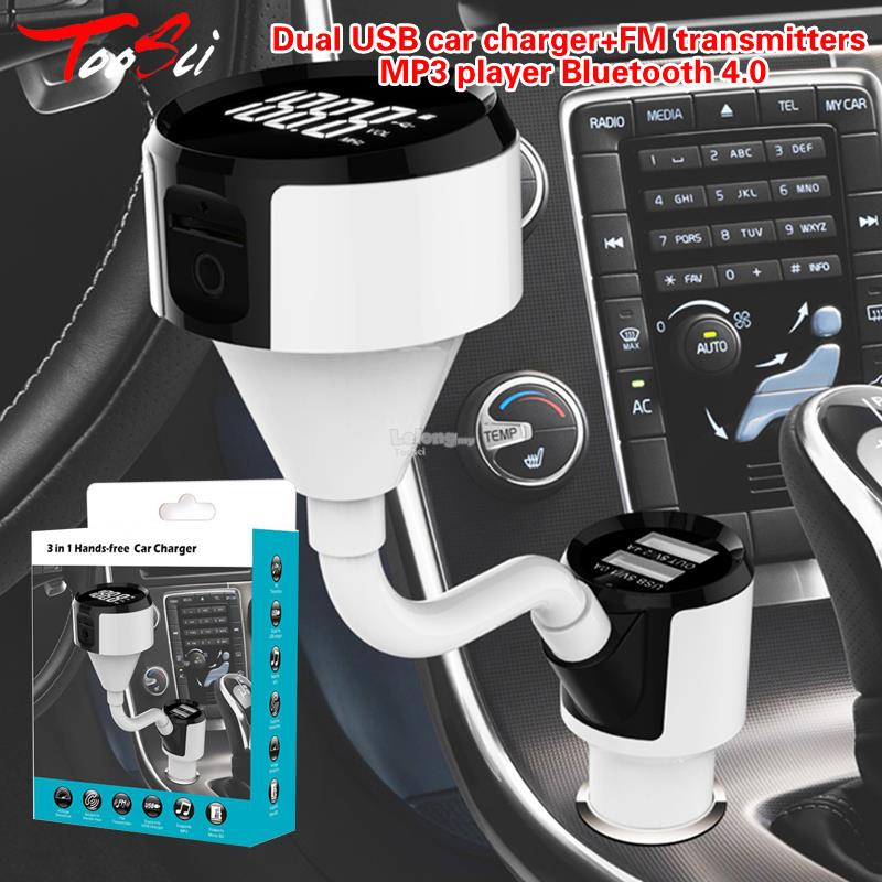 Dual USB car charger+FM transmitters +MP3 player Bluetooth 4.0