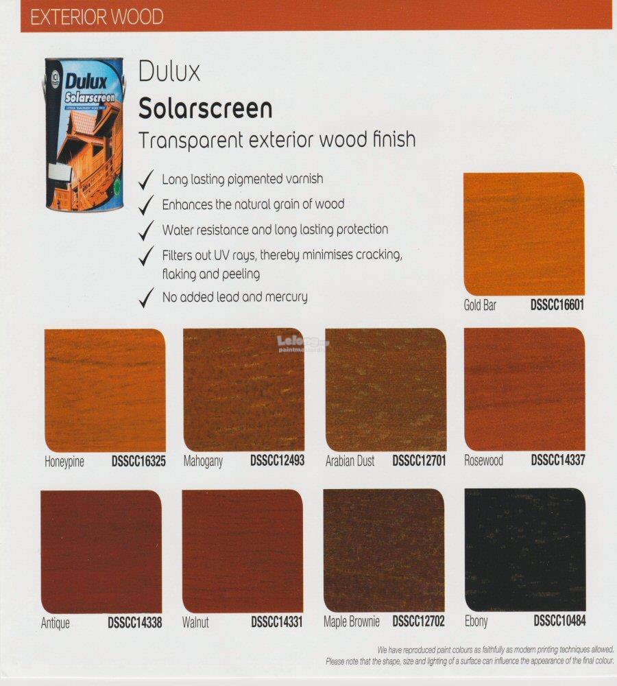 Dulux Paint Solarscreen Transparent Exterior Wood Finish 5L Part 42