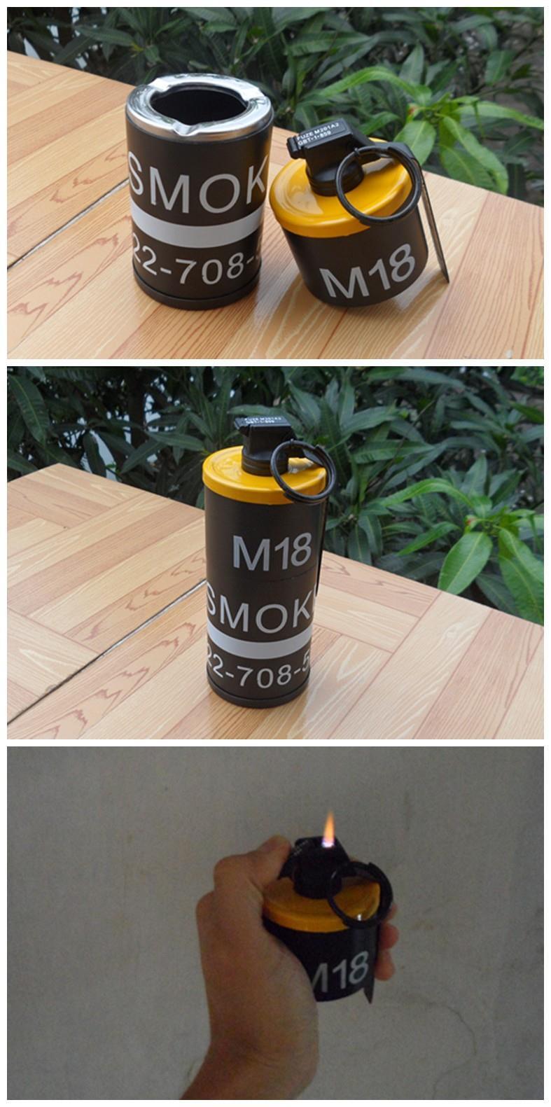 DUMMY M18 Smoke Grenade shape Ashtray Windproof lighter
