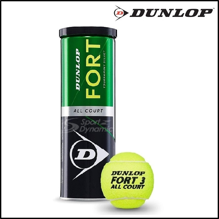 DUNLOP FORT ALL COURT TENNIS BALLS (1 TUBE) 100% AUTHENTIC