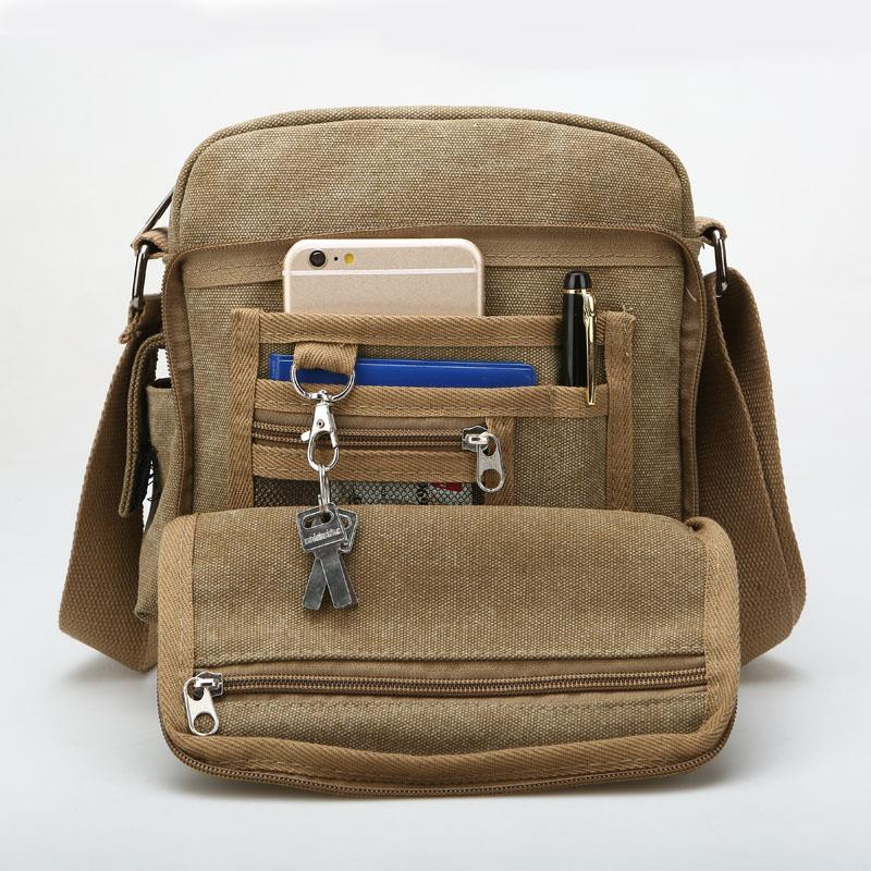 Durable Vintage Multifunction Canvas Shoulder Bag Messenger Bag Ipad. ‹ › 2a0f70bac3