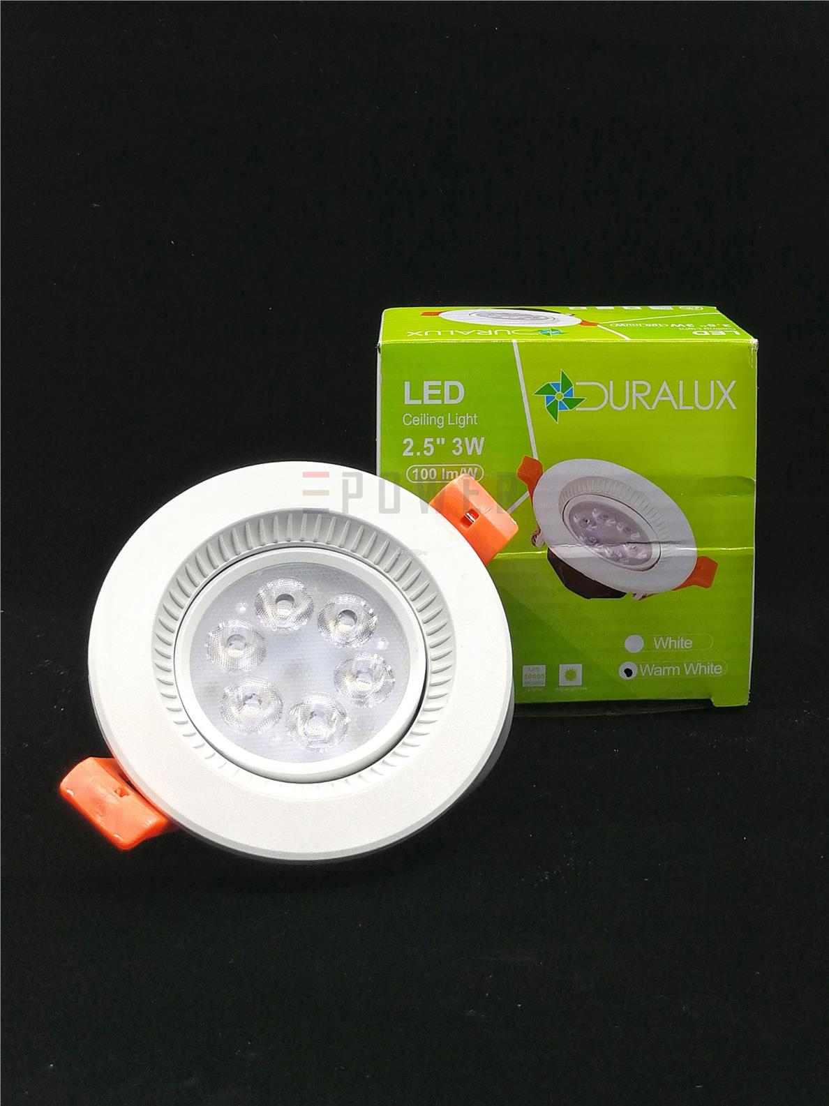 official photos 3a142 8d00e DURALUX/FONEMAX 3W 2.5' LED EYEBALL CEILING LIGHT Daylight / Warmwhite