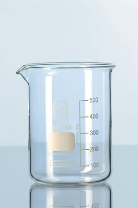 DURAN® Glass beaker, low form, with spout 800ml / Bikar