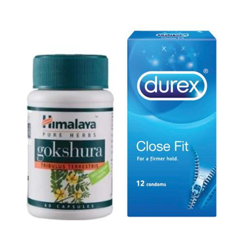 Durex Close Fit 12s + Himalaya Gokshura (Men Power Set 1)