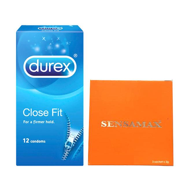 Durex Close Fit Condoms + Sensamax Powder Tahan Lama di Ranjang