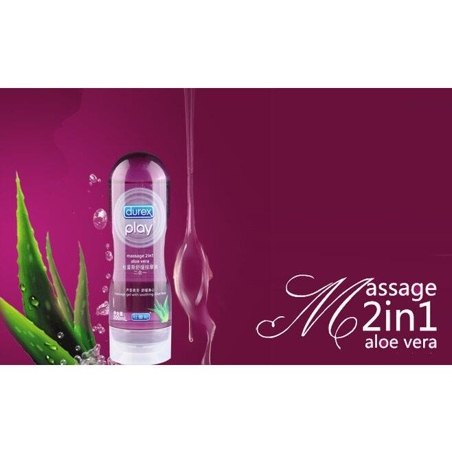 Durex Play Massage 2in1 Lubricant 200ml + Natural Lubricant 50ml