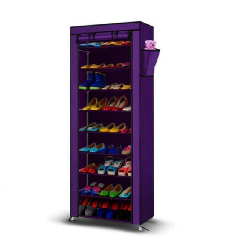 Dust Proof Multi Function 10 Tier Shoe Cabinet Storage Racks