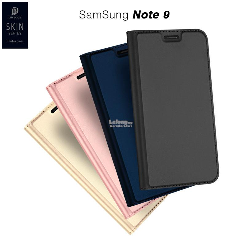 DUX DUCIS Samsung Galaxy Note 9 8 Flip PU Leather Case Cover Casing
